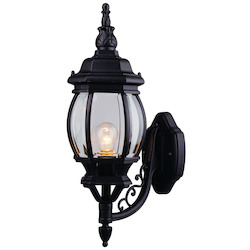Designers Fountain Black 1 Light 6.5in. Cast Aluminum Wall Lantern from the Riviera Collection