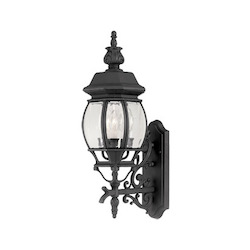 Designers Fountain Black 3 Light 7.5in. Cast Aluminum Wall Lantern from the Riviera Collection