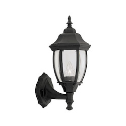 Designers Fountain Black 1 Light 6.5in. Cast Aluminum Wall Lantern from the Tiverton Collection