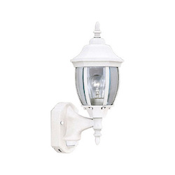Designers Fountain White 1 Light 6.5in. Wall Lantern with Motion Detector