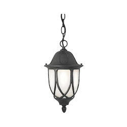 Designers Fountain Black 1 Light 11in. Cast Aluminum Hanging Lantern from the Capella Collection