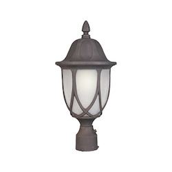 Designers Fountain Autumn Gold 1 Light 9in. Cast Aluminum Post Lantern from the Capella Collection