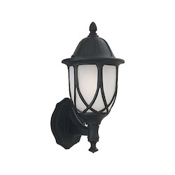 Designers Fountain Black 1 Light 6.5in. Cast Aluminum Wall Lantern from the Capella Collection