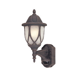 Designers Fountain Autumn Gold 1 Light 6.5in. Cast Aluminum Wall Lantern with Motion Detector