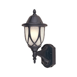 Designers Fountain Open Box Black 1 Light 6.5in. Cast Aluminum Wall Lantern with Motion Detector