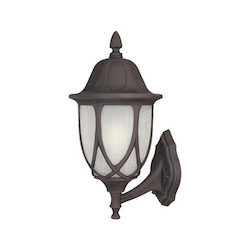 Designers Fountain Autumn Gold 1 Light 9in. Cast Aluminum Wall Lantern from the Capella Collection