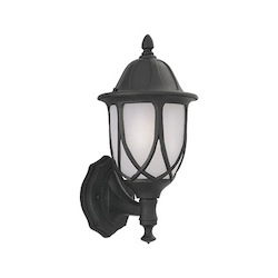 Designers Fountain Black 1 Light 9in. Cast Aluminum Wall Lantern from the Capella Collection