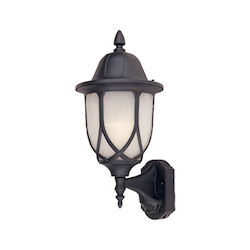 Designers Fountain Black 1 Light 9in. Cast Aluminum Wall Lantern with Motion Detector
