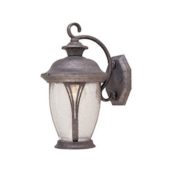 Designers Fountain Rust Silver w/seedy 1 Light 7in. Wall Lantern from the Westchester Collection