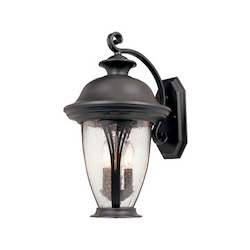 Designers Fountain Bronze w/seedy glass 2 Light 9in. Wall Lantern from the Westchester Collection