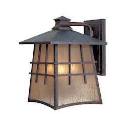 Designers Fountain Mediterranean Patina 3 Light 9.5in. Wall Lantern from the Oak Park Collection