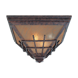 Designers Fountain Mediterranean Patina 2 Light Outdoor Flush Mount Fixture