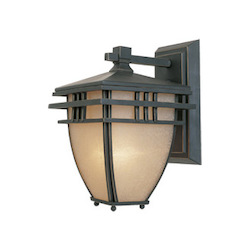 Designers Fountain Aged Bronze Patina 1 Light 6.5in. Wall Lantern from the Dayton Collection