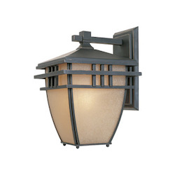 Designers Fountain Aged Bronze Patina 1 Light 8.75in. Wall Lantern from the Dayton Collection