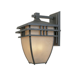 Designers Fountain Aged Bronze Patina 3 Light 10.75in. Wall Lantern from the Dayton Collection