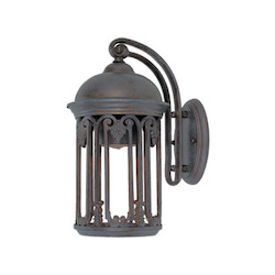 Designers Fountain Barrington 1 Light Wall Lantern With Old Bronze Finish