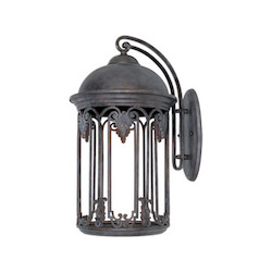 Designers Fountain Old Bronze 1 Light 11in.Wall Lantern from the Dark Sky Barrington Collection