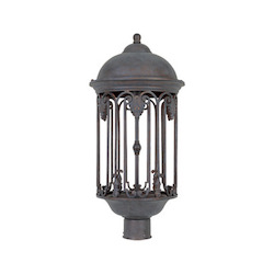 Designers Fountain Old Bronze 1 Light 11in. Post Lantern from the Dark Sky Barrington Collection