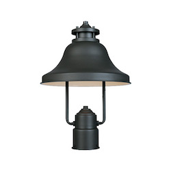 Designers Fountain Bronze 1 Light 11in. Post Lantern from the Bayport Collection