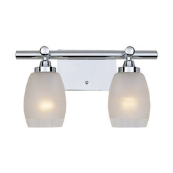 Designers Fountain Chrome 2 Light Bath Bar from the Astoria Collection