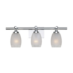 Designers Fountain Chrome 3 Light Bath Bar from the Astoria Collection