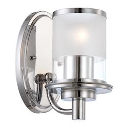 Designers Fountain Chrome Essence 1 Light Wall Sconce Bathroom Fixture
