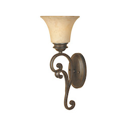 Designers Fountain Forged Sienna Single Light Up Lighting Wall Sconce from the Mendocino Collection