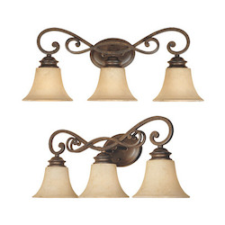 Designers Fountain Forged Sienna Three Light Down Lighting 24.25