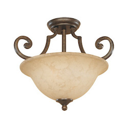 Designers Fountain Forged Sienna Mendocino 2 Light Semi-Flush Ceiling Fixture