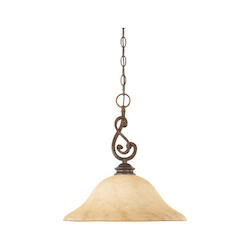 Designers Fountain Forged Sienna Single Light Down Lighting Pendant from the Mendocino Collection