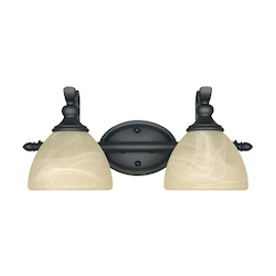 Designers Fountain Burnished Bronze 2 Light Del Amo Collection Bathroom / Vanity Fixture