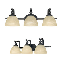 Designers Fountain Burnished Bronze 3 Light Del Amo Collection Bathroom / Vanity Fixture