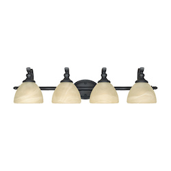 Designers Fountain Burnished Bronze 4 Light Del Amo Collection Bathroom / Vanity Fixture