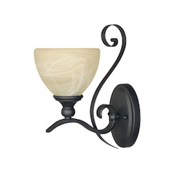 Designers Fountain Burnished Bronze 1 Light Del Amo Collection Wall Sconce