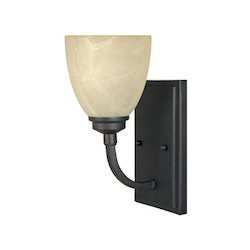 Designers Fountain Burnished Bronze 1 Light Wall Sconce from the Tackwood Collection