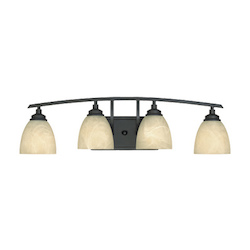 Designers Fountain Burnished Bronze 4 Light Bathroom / Vanity Fixture from the Tackwood Collection
