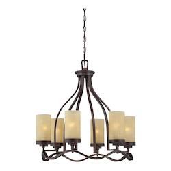 Designers Fountain Tuscana 6 Light Up Lighting Chandelier from the Castello Collection