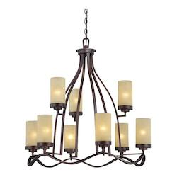 Designers Fountain Tuscana 9 Light Up Lighting Chandelier from the Castello Collection