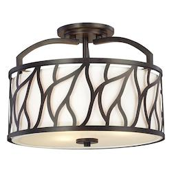 Designers Fountain Artisan 3 Light Semi-Flush Mount Ceiling Fixture from the Modesto Collection