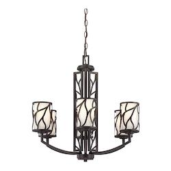 Designers Fountain Artisan 6 Light Up Lighting Chandelier from the Modesto Collection