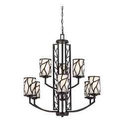 Designers Fountain Artisan 9 Light Up Lighting Chandelier from the Modesto Collection