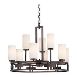 Designers Fountain Flemish Bronze 9 Light Up Lighting Chandelier from the Del Ray Collection