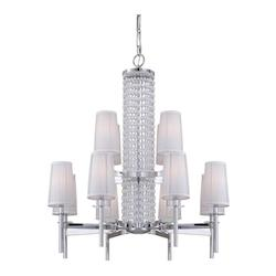 Designers Fountain Polished Chrome 12 Light Up Lighting Chandelier from the Candence Collection