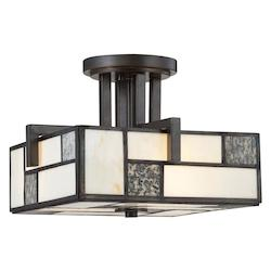 Designers Fountain Charcoal  3 Light Semi-Flush Mount Ceiling Fixture from the Bradley Collection