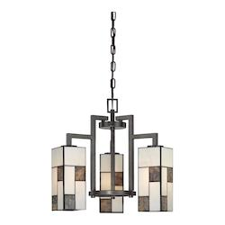Designers Fountain Charcoal  3 Light Down Lighting Chandelier from the Bradley Collection