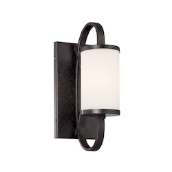 Designers Fountain Artisan Bellemeade 1 Light Wall Sconce Bathroom Fixture