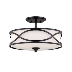 Designers Fountain Artisan Bellemeade 3 Light Semi-Flush Ceiling Fixture