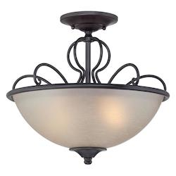 Designers Fountain Natural Iron Tangier 2 Light Semi Flush Ceiling Fixtures