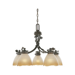 Designers Fountain Old Bronze Timberline 18.5in. Height 5 Light Chandelier