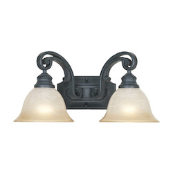 Designers Fountain Natural Iron Barcelona 2 Light 17.25in. Wide Bathroom / Vanity Light